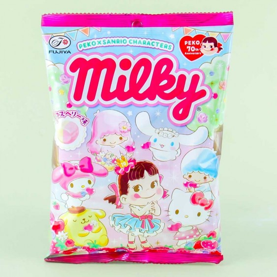 Milky Peko x Sanrio Characters Candies - Mixed Berry