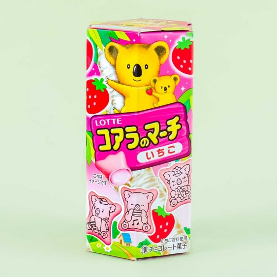 Koala's March Strawberry Biscuits
