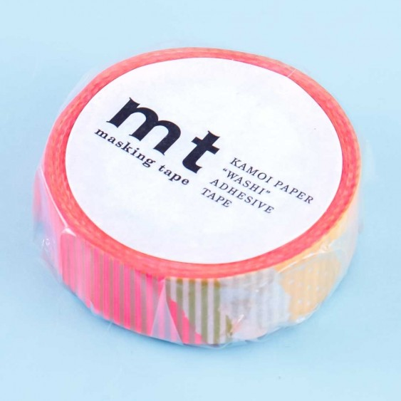 MT Warm Ombré Strips & Dots Washi Tape