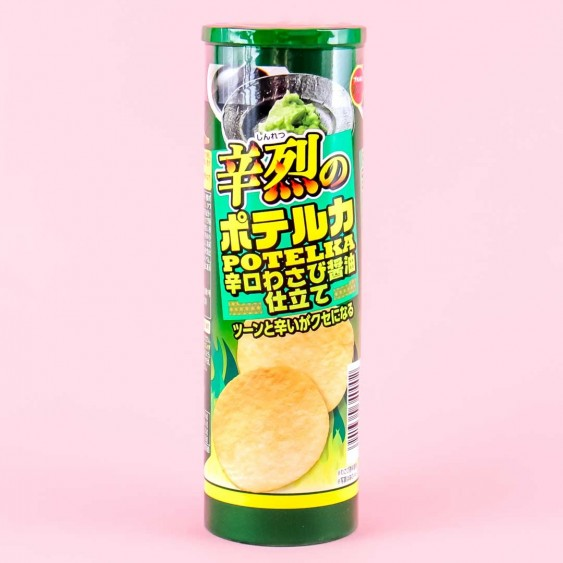 Bourbon Spicy Potelka Potato Chips - Wasabi Soy Sauce
