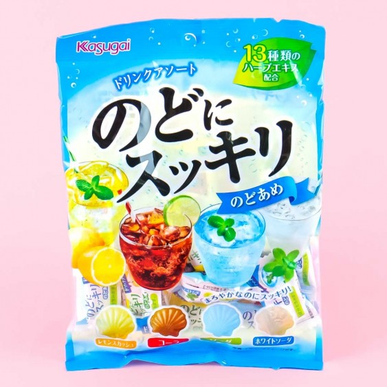 Kasugai Refreshing Seashell Throat Candy - Assorted Drinks