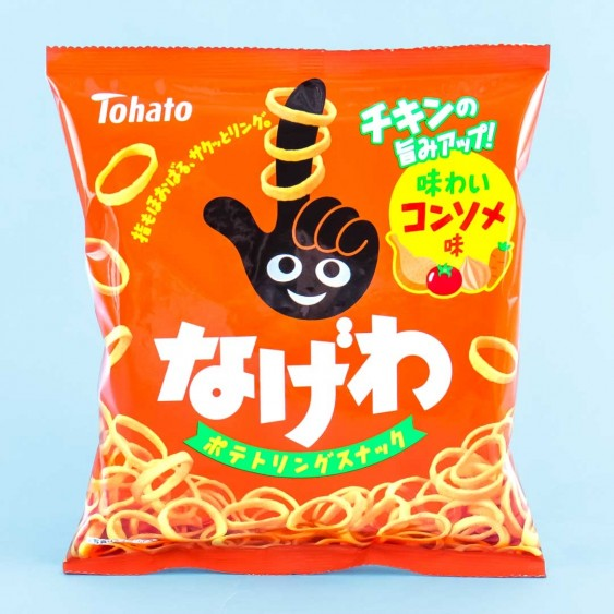 Tohato Nagewa Potato Ring Snacks - Chicken Consomme