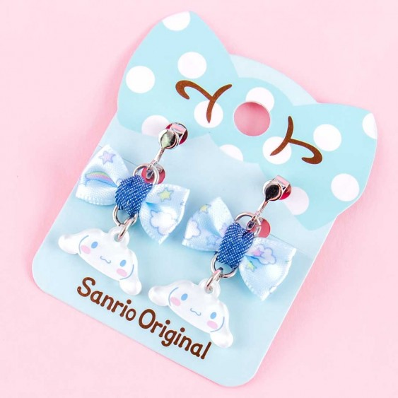Cinnamoroll Ribbon Charm Clip-On Earrings