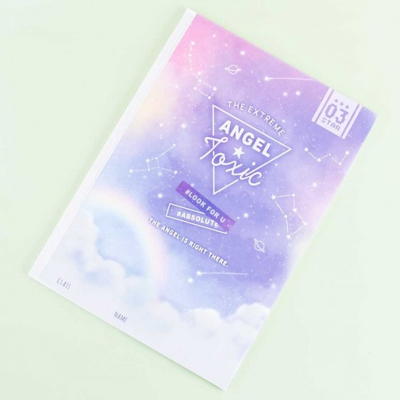 The Extreme Angel Toxic Constellations Lined Notebook