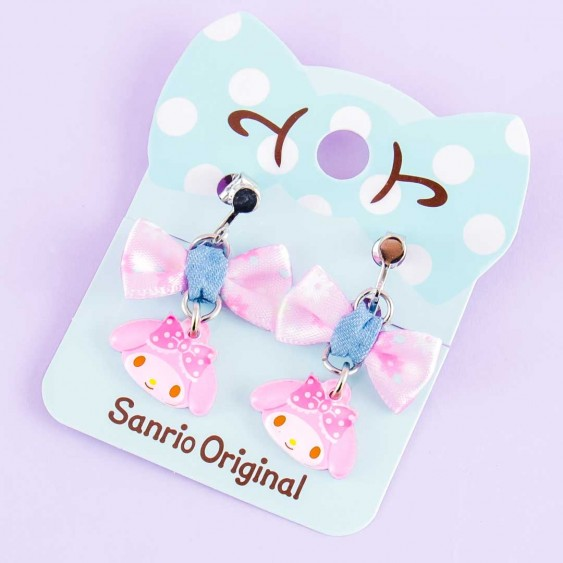 My Melody Ribbon Charm Clip-On Earrings
