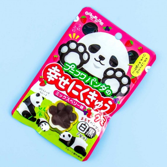 Senjaku PuniFuwa Happy Nikukyu Panda Gummies - Mixed Berries
