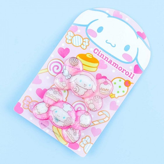 Cinnamoroll Sparkly Sweets Bow Hair Tie Set - 2 pcs