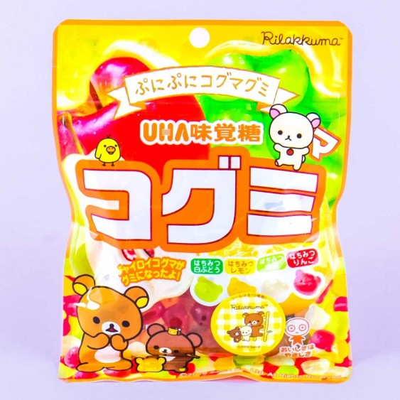 UHA Kogumi Fruit Juice Gummies - Rilakkuma Honey Assortment