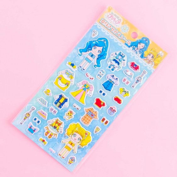 Healin' Good Pretty Cure Dress-Up Puffy Stickers - Cure Fontaine & Cure Sparkle