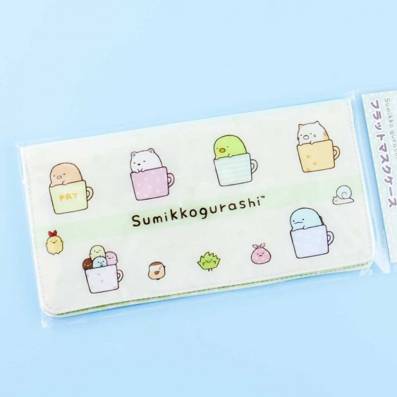 Sumikko Gurashi Cups Face Mask Case
