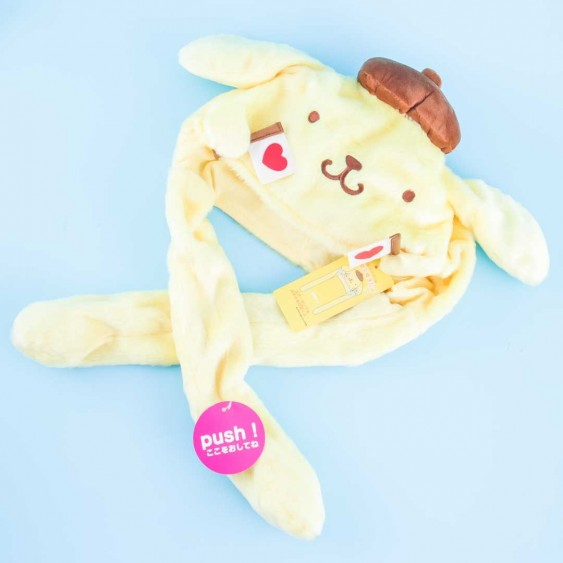 Pompompurin Fluffy Hat With Movable Cheering Hands