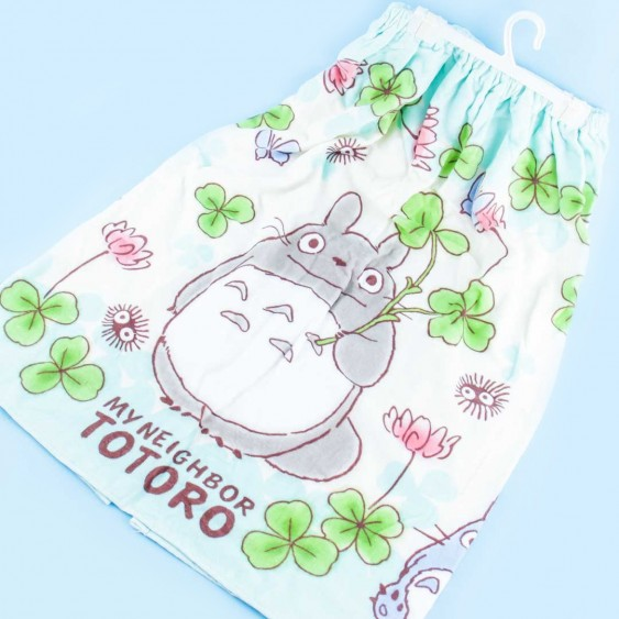 My Neighbor Totoro Clover Day Wrap Towel With Buttons