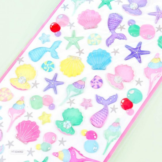 Sparkle Mermaid Puffy Stickers