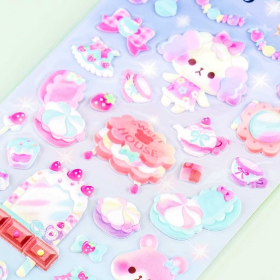 Amusing Makeup Cafe Puffy Stickers