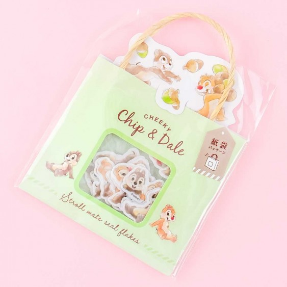 Chip & Dale Shopping Bag Sticker Flakes