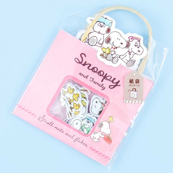 Snoopy Shopping Bag Sticker Flakes