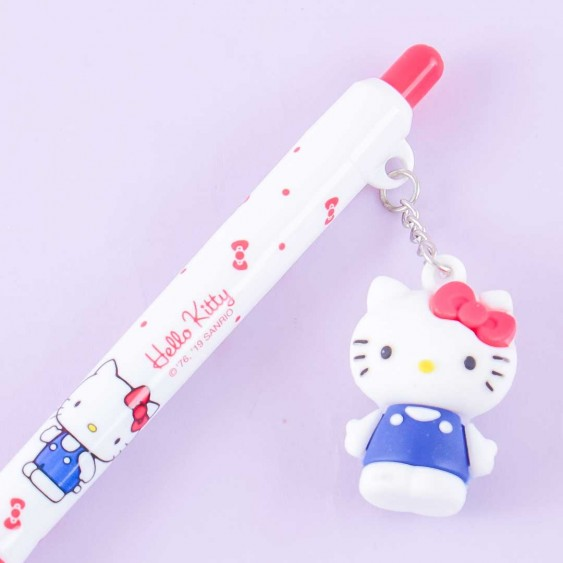 Hello Kitty Click Pen With Charm