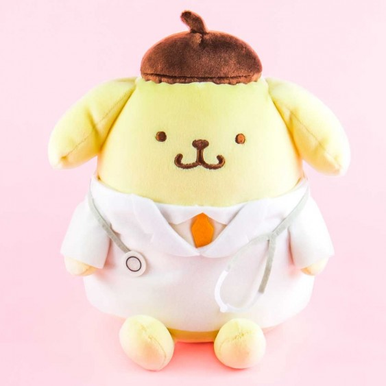 Pompompurin Doctor Plushie - Medium