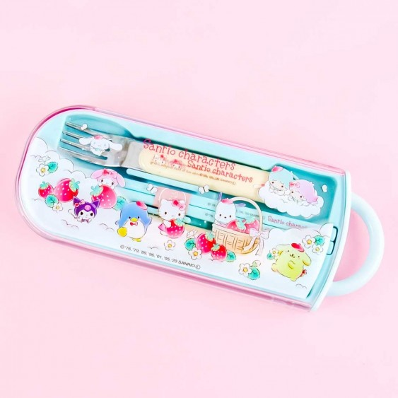 Sanrio Characters Strawberry Field Utensil Set
