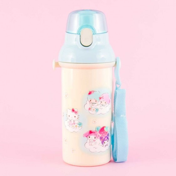 Sanrio Characters Strawberry Field One-Touch Water Bottle