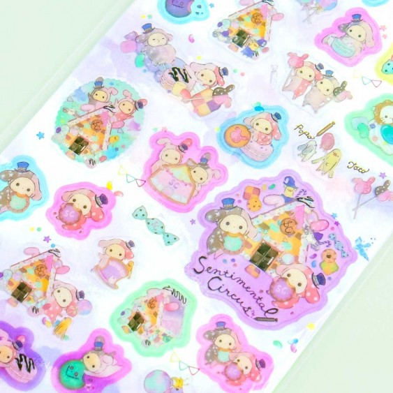 Sentimental Circus Gingerbread House Stickers