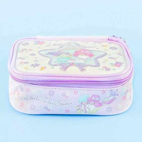 Little Twin Stars Floral Fantasy Square Cosmetic Pouch