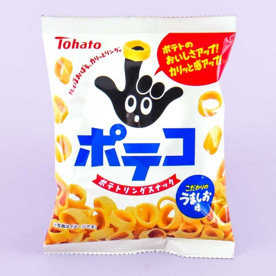 Tohato Poteko Salted Potato Rings Mini Snack Pack