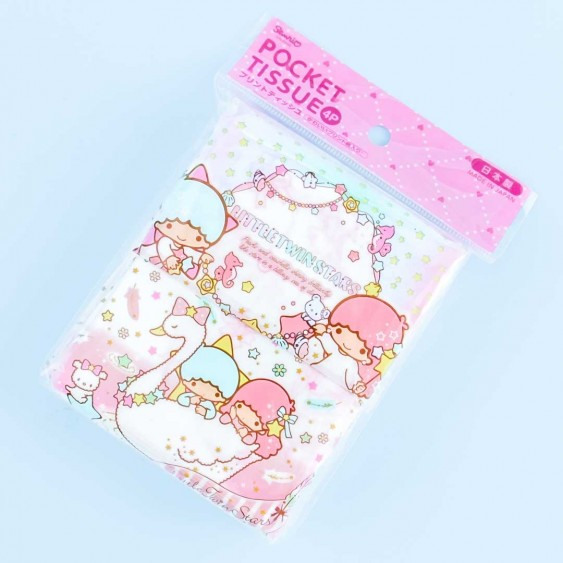 Little Twin Stars Night Swan Pocket Tissues - 4 pcs