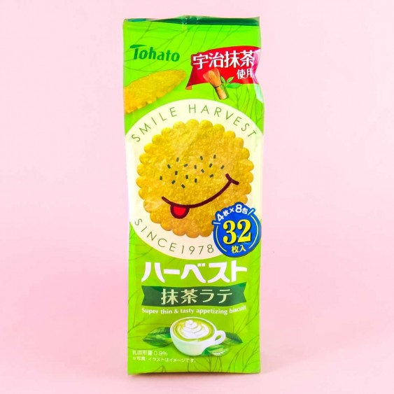 Tohato Smile Harvest Matcha Latte Biscuits
