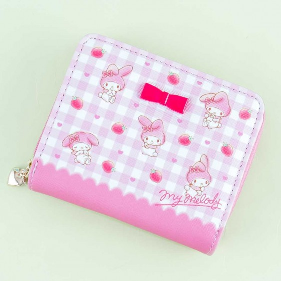 My Melody Strawberry Checkered Wallet