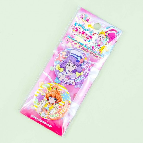 Tropical Rouge! Pretty Cure Clip Badge Set - Cure Coral