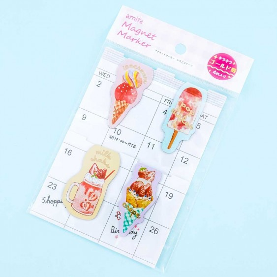 Strawberry Sweets Magnetic Bookmark