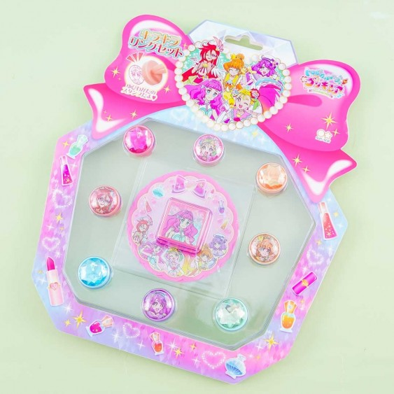 Tropical-Rouge! Pretty Cure Glitter Ring Stamp Set