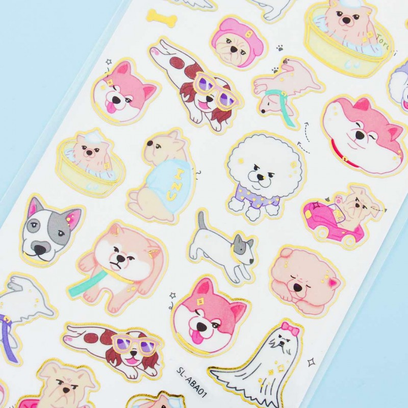 food stickers Japanese Shiba Inu stickers Kawaii dog stickers mochi puppy