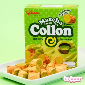 Glico Collon Biscuit Roll - Green Tea filling