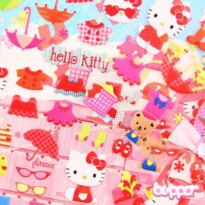 Hello Kitty Puffy Sticker Set - Dressing up
