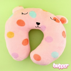 Cute Teddy Neck Pillow - Dots