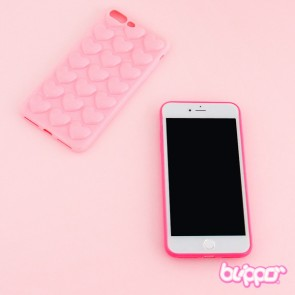 Kawaii Heart Bubble Protective Case for iPhone 7 / 8 Plus