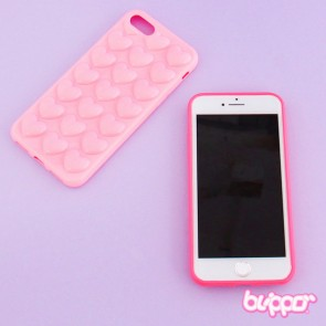 Kawaii Heart Bubble Protective Case for iPhone 7 / 8