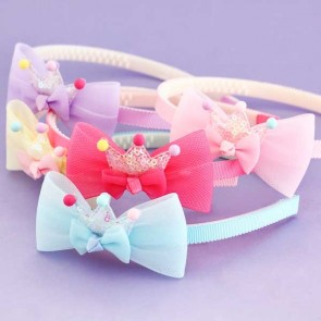 Crown With Ribbon Hair Band