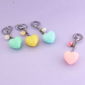 Heart Crystal Ball Charm & Keychain