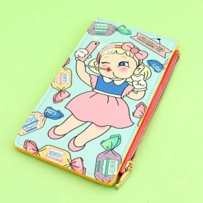 Pastel Candy Girl Card Wallet