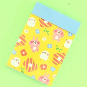 Kanahei Usagi Memo Pad With Flowers