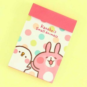 Kanahei Usagi Memo Pad With Polka Dots