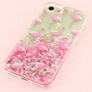 Flamingo Glitter Protective Case for iPhone 8 / SE