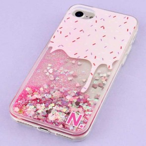 Ice Cream Glitter Protective Case for iPhone 7