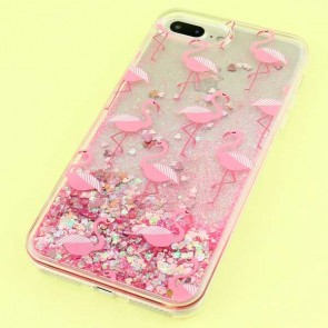 Flamingo Glitter Protective Case for iPhone 7 / 8 Plus