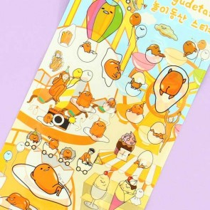 Gudetama In Amusement Park Stickers