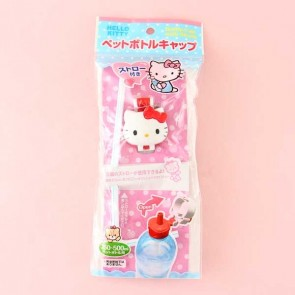 Hello Kitty Bottle Cap With Straw