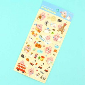 Kanahei's Piske & Usagi Stickers - Travelling